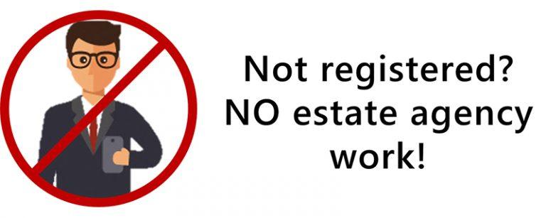 unlicensed real estate agency work